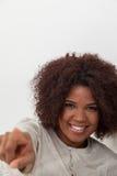 Portrait of a beautiful black woman stock photos