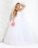 Portrait of a beautiful blond bride Royalty Free Stock Image