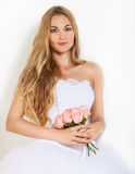 Portrait of a beautiful blond bride Stock Photo