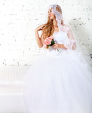 Portrait of a beautiful blond bride Royalty Free Stock Images