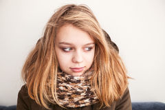 Portrait of beautiful blond Caucasian teenage girl Royalty Free Stock Photos
