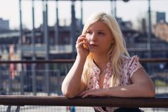 Portrait of beautiful blond girl Stock Images