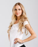 Portrait of the beautiful blond girl Royalty Free Stock Image