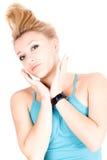 Portrait of beautiful blond girl Stock Photography