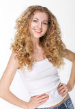 Portrait of the beautiful blond girl Stock Photography