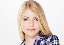 Portrait of beautiful blond girl Stock Photo