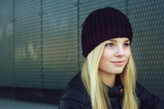 Portrait of a beautiful blond girl Royalty Free Stock Photography