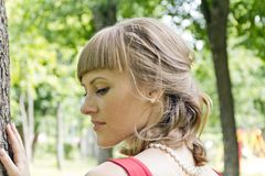 Portrait of beautiful blond girl Royalty Free Stock Photos