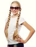 Portrait of a beautiful blond girl Stock Photo