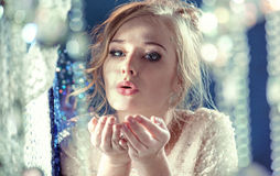 Portrait of a beautiful blond girl Stock Image