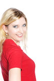 Portrait of a beautiful blond haired woman Royalty Free Stock Photography
