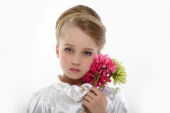 Portrait of a beautiful blond little girl Royalty Free Stock Photography