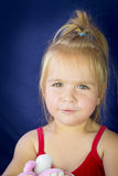Portrait of beautiful blond little girl Stock Photo