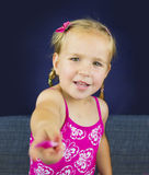 Portrait of beautiful blond little girl Stock Images