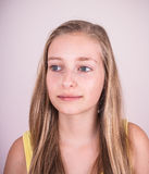 Portrait of beautiful blond teenage girl Stock Photo