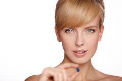 Portrait of a beautiful blond woman Stock Image