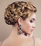 portrait of beautiful blond woman with jewellery Royalty Free Stock Photos