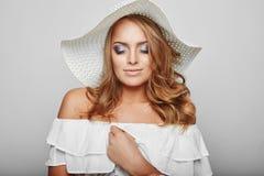 Portrait of beautiful blond woman Stock Image
