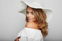 Portrait of beautiful blond woman Royalty Free Stock Photography