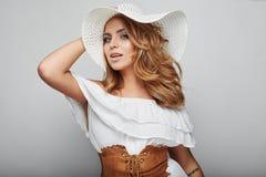 Portrait of beautiful blond woman Stock Photography