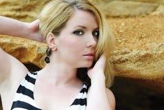 Portrait of the beautiful blonde Stock Photo
