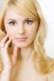 Portrait of the beautiful blonde. Royalty Free Stock Photos