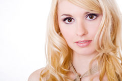 Portrait of the beautiful blonde. Royalty Free Stock Photography