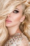 Portrait of the beautiful blonde with amazing eyes Royalty Free Stock Photo
