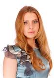 Portrait of beautiful blonde blue-eyed girl Stock Photo