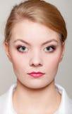 Portrait beautiful blonde business woman studio shot Royalty Free Stock Photography