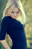Portrait of a beautiful blonde close-up Royalty Free Stock Photos