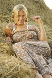Portrait of beautiful blonde country girl Stock Photography