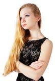 Portrait of beautiful blonde girl Stock Photos