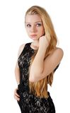 Portrait of beautiful blonde girl Royalty Free Stock Photos