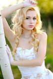 Portrait of a beautiful blonde girl Royalty Free Stock Photography