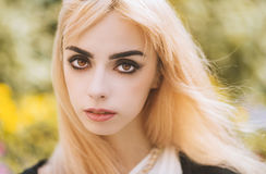 Portrait of a beautiful blonde girl. Royalty Free Stock Photo