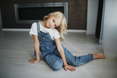 Portrait of a beautiful blonde girl in home, lifestyle. Portrait of a beautiful blonde girl in home Royalty Free Stock Photography