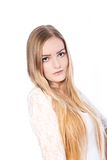 Portrait of Beautiful Blonde Haired Woman Stock Image