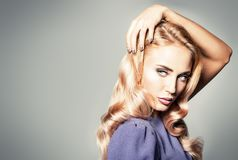 Portrait of gorgeous woman. Portrait of a beautiful blonde lady, Beauty, fashion royalty free stock images