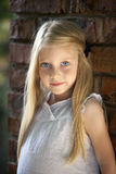 Portrait of a beautiful blonde little girl three years Stock Photo