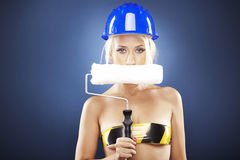 Portrait of a beautiful blonde model Royalty Free Stock Photo