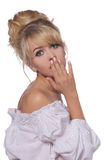 Portrait of a beautiful blonde in retro style Royalty Free Stock Image