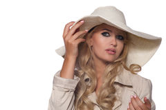 Portrait of a beautiful blonde in retro style Stock Image