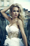 Portrait of beautiful blonde woman Royalty Free Stock Images