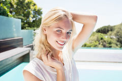 Portrait of beautiful blonde Royalty Free Stock Photo