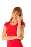 Portrait of beautiful blonde teenage girl Stock Photography