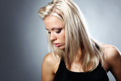 Portrait of a beautiful blonde woman. Stock Photography