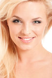 Portrait of beautiful blonde woman Stock Photography