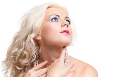 Portrait of beautiful blonde woman. Stock Image