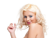 Portrait of beautiful blonde woman. Stock Images